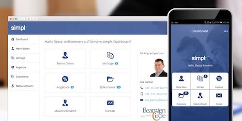 BeamtenCircle Simplr Kunden-Login